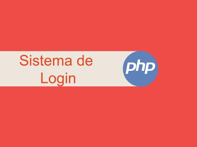 Sistema de login com PHP e MySQLi