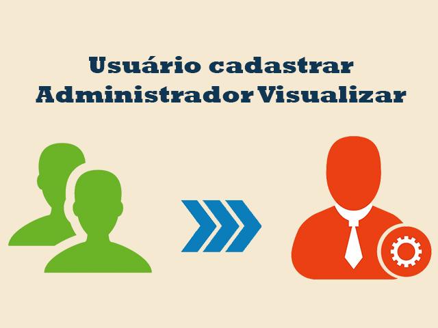 Usuário cadastra e administrador visualiza o conteúdo cadastro