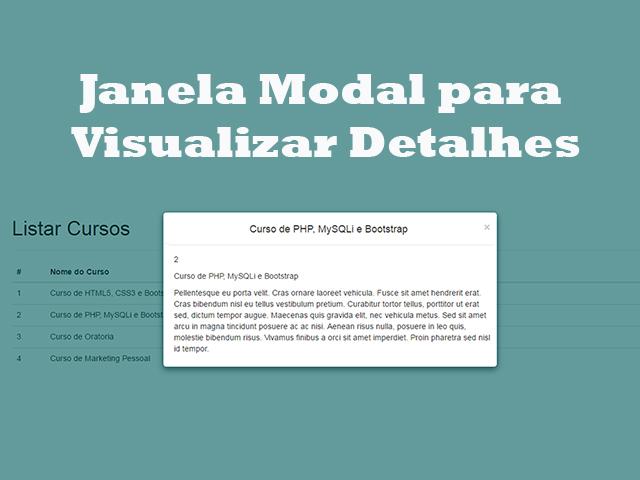 Como Criar Janela Modal para Visualizar Detalhes do Produto