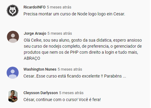Depoimento Curso de PHP MySQLi Bootstrap
