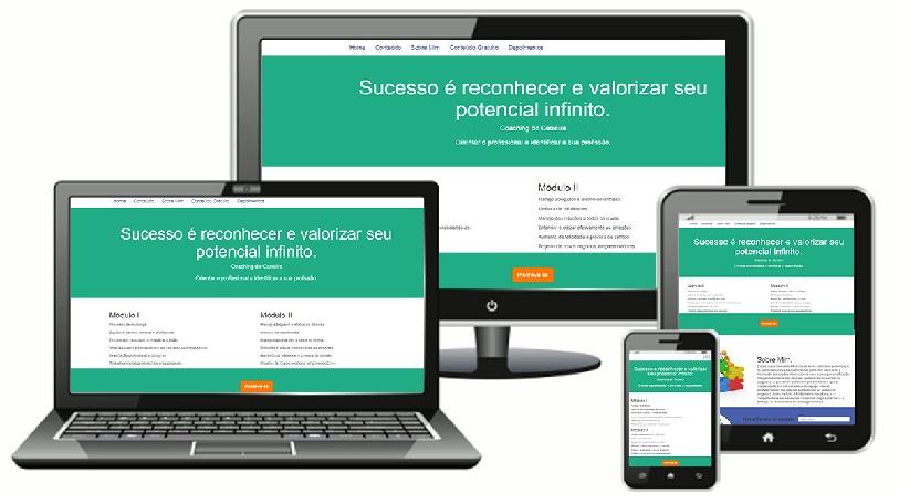 Site responsivo com Bootstrap